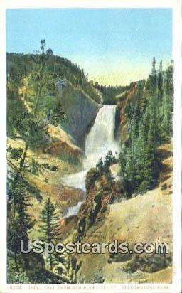 Great Fall, Red Rock - Yellowstone National Park, Wyoming WY Postcard