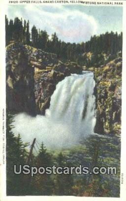 Upper Falls, Grand Canyon - Yellowstone National Park, Wyoming WY Postcard