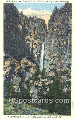Rainbow Falls - Big Horn Mountains, Wyoming WY Postcard