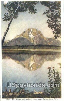 Mt Moran - Jackson Lake, Wyoming WY Postcard
