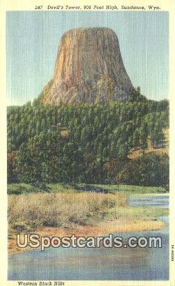 Devil's Tower National Monument - Sandance, Wyoming WY Postcard
