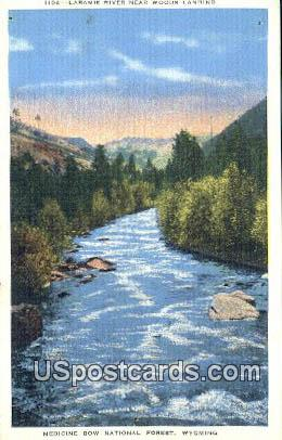 Laramie River - Medicine Bow National Forest, Wyoming WY Postcard