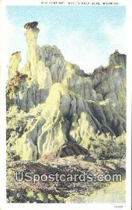 The Sentinel - Hells Half Acre, Wyoming WY Postcard