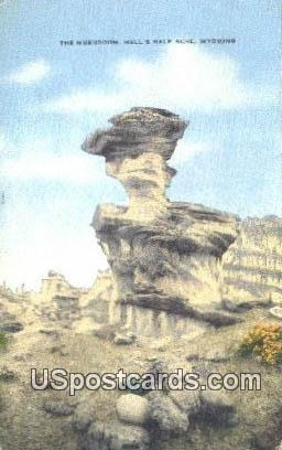Mushroom - Hells Half Acre, Wyoming WY Postcard