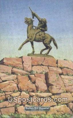Buffalo Bill Memorial - Cody, Wyoming WY Postcard