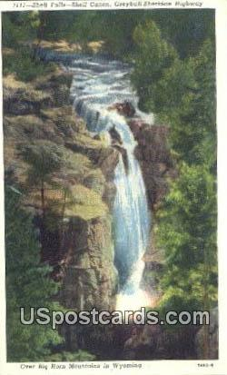 Shell Falls - Big Horn Mountains, Wyoming WY Postcard