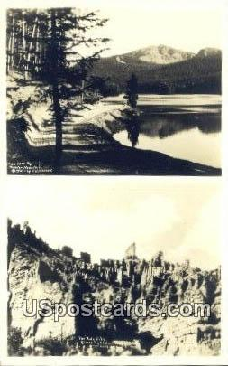 Real Photo Holy City, Shoshone Canyon - Cody, Wyoming WY Postcard