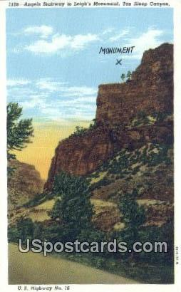 Angels Stairway - Ten Sleep Canyon, Wyoming WY Postcard