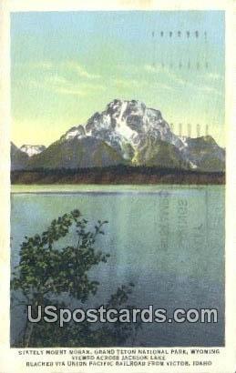 Stately Mount Moran - Grand Teton National Park, Wyoming WY Postcard