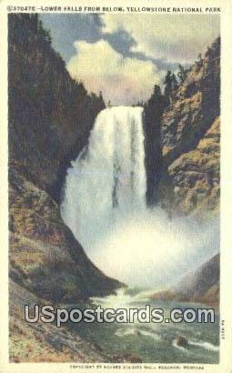 Lower Falls - Yellowstone National Park, Wyoming WY Postcard