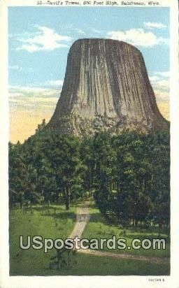 Devil's Tower - Sundance, Wyoming WY Postcard