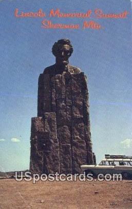 Lincoln Memorial Summit - Sherman, Wyoming WY Postcard