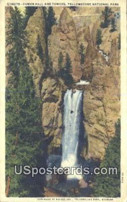 Tower Fall & Towers - Yellowstone National Park, Wyoming WY Postcard