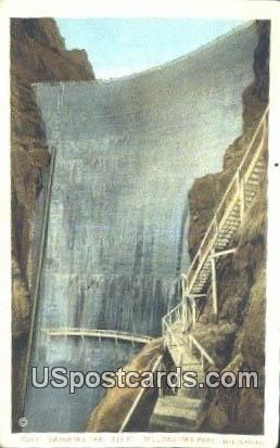 Shoshone Dam - Yellowstone Park, Wyoming WY Postcard