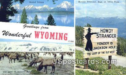 Teton Pass, WY Postcard       ;      Teton Pass, Wyoming