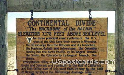 Continental Divide - Sweetwater County, Wyoming WY Postcard