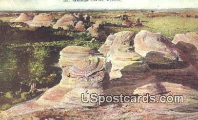 Sandstone Pinnacles, Wyoming Postcard      ;      Sandstone Pinnacles, WY
