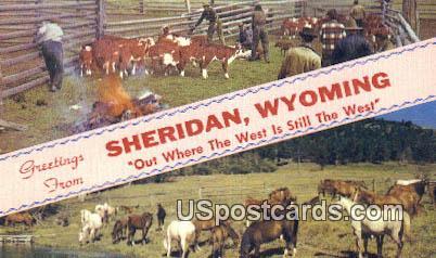 Sheridan, Wyoming Postcard      ;      Sheridan, WY
