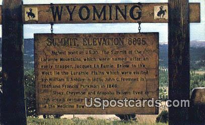 Monument Hill - Cheyenne, Wyoming WY Postcard