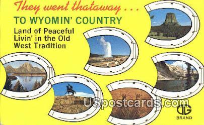 Mt Moran - Greetings from, Wyoming WY Postcard