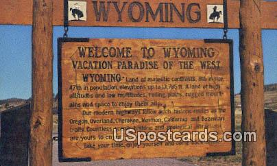 Misc, WY Postcard       ;      Misc, Wyoming