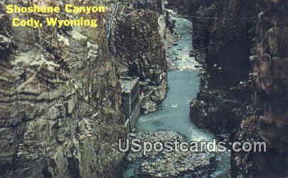 Shoshone Canyon - Cody, Wyoming WY Postcard