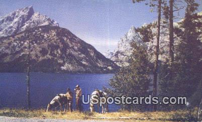 Jenny Lake, WY Postcard       ;      Jenny Lake, Wyoming