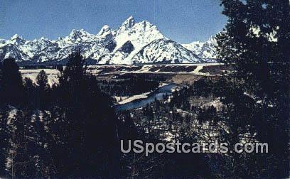 Grand Tetons - Teton National Park, Wyoming WY Postcard