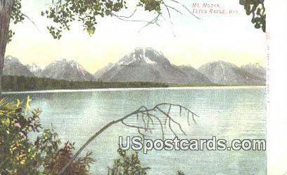 Mt Moran - Teton Range, Wyoming WY Postcard