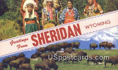 Sheridan, WY Postcard       ;      Sheridan, Wyoming