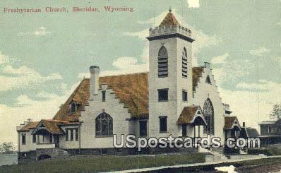 Presbyterian Church - Sheridan, Wyoming WY Postcard
