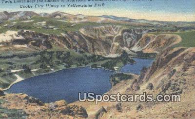 Twin Lakes - Yellowstone Park, Wyoming WY Postcard