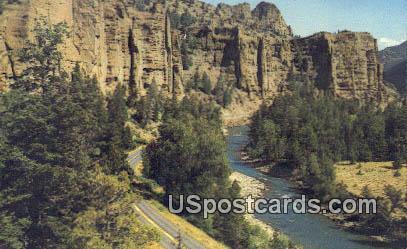 Palisades - Cody, Wyoming WY Postcard