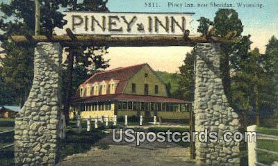 Piney Inn - Sheridan, Wyoming WY Postcard