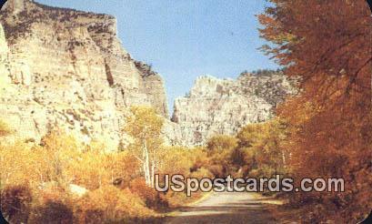 Lower Ten Sleep Canon - Big Horn Mountains, Wyoming WY Postcard