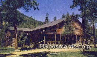 Buffalo Bill's Old Hunting Lodge - Cody, Wyoming WY Postcard