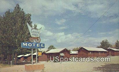 Covered Wagon Motel - West Cody, Wyoming WY Postcard