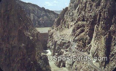 Buffalo Bill Dam - Yellowstone Park, Wyoming WY Postcard