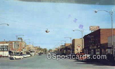 Big Horn Avenue - Warland, Wyoming WY Postcard