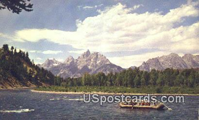 Snake River Float Trip - Grand Teton National Park, Wyoming WY Postcard