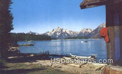 Jackson Lake - Teton Range, Wyoming WY Postcard
