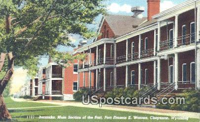 Barracks, Fort Francis E Warren - Cheyenne, Wyoming WY Postcard