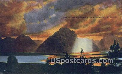 Teton Mountains, Wyoming Postcard      ;      Teton Mountains, WY