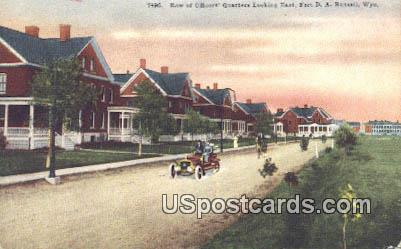 Row of Officers' Quarters - Fort DA Russell, Wyoming WY Postcard