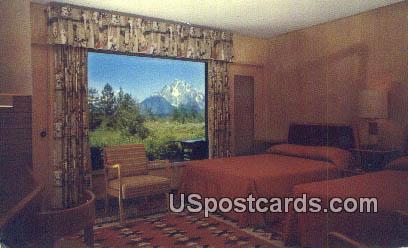 Guest Room, Jackson Lake Lodge - Grand Teton National Park, Wyoming WY Postcard