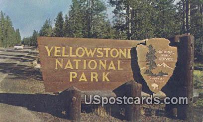 Yellowstone National Park, Wyoming Postcard      ;      Yellowstone National Park, WY