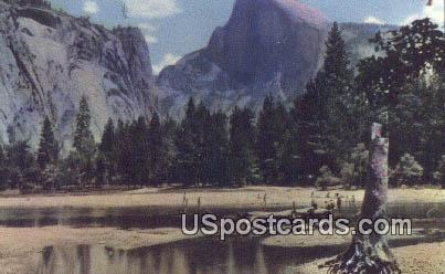 Half Dome & Merced River - Yosemite National Park, Wyoming WY Postcard