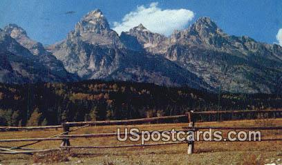 Grand Teton Peak, Wyoming Postcard      ;      Grand Teton Peak, WY