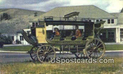 Old Stagecoach, Mammouth Hotel - Yellowstone National Park, Wyoming WY Postcard