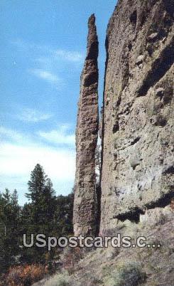 Chimney Rock - Yellowstone National Park, Wyoming WY Postcard